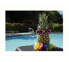 Pineapple by the pool Art Print
