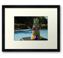 Pineapple by the pool Framed Print
