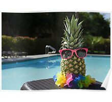 Pineapple by the pool Poster