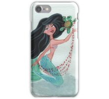 Mermaid Light Blue  iPhone Case/Skin