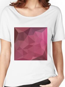 Begonia Pink Abstract Low Polygon Background Women's Relaxed Fit T-Shirt