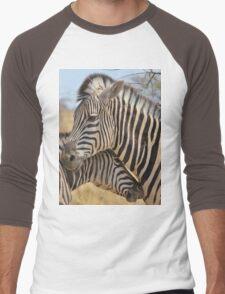 Zebra Love - Wildlife Background from Africa Men's Baseball ¾ T-Shirt