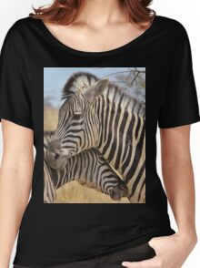 Zebra Love - Wildlife Background from Africa Women's Relaxed Fit T-Shirt
