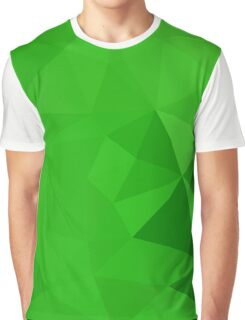 Bitter Lemon Green Abstract Low Polygon Background Graphic T-Shirt