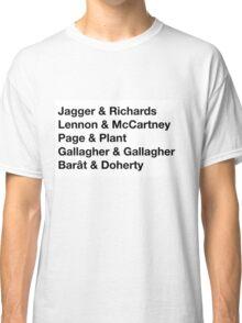 British Songwriting Duos Classic T-Shirt