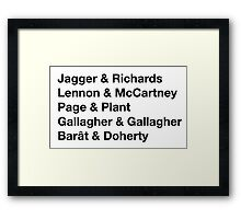 British Songwriting Duos Framed Print
