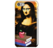 student mona lisa - funny collage iPhone Case/Skin