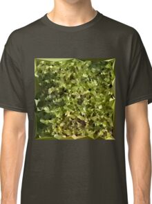 Fern Green Abstract Low Polygon Background Classic T-Shirt