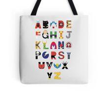 marvel superhero alphabet Tote Bag