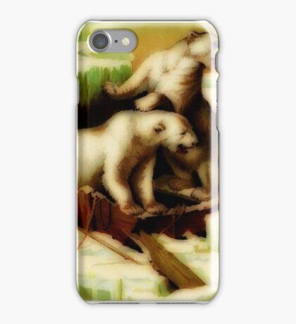 Vintage polar bears iPhone Case/Skin
