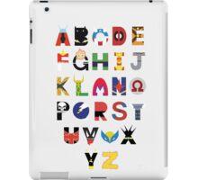 marvel superhero alphabet iPad Case/Skin