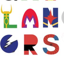 marvel superhero alphabet Sticker