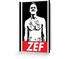 Zef 2 Greeting Card