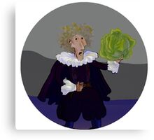 Hamlet with Cabbage Canvas Print