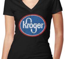 kroger Women's Fitted V-Neck T-Shirt