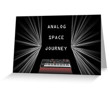 Analog Space Journey Greeting Card