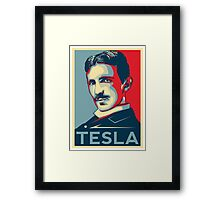 Tesla Poster Framed Print