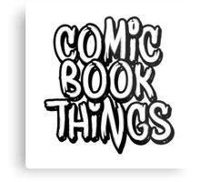 Comic Book Things Sticker Metal Print