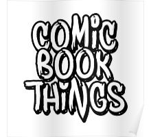 Comic Book Things Sticker Poster