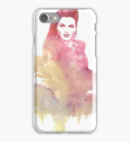 Evil Queen Red Water Color iPhone Case/Skin
