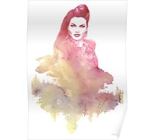 Evil Queen Red Water Color Poster