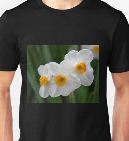Three Miniature Daffodils Unisex T-Shirt