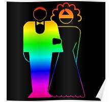Rainbow Bride And Groom Poster