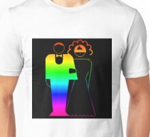 Rainbow Bride And Groom Unisex T-Shirt