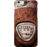 Rustic Speedometer Dial iPhone Case/Skin