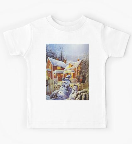 Father & Son Snowman  Kids Tee
