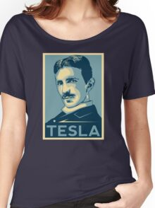 Tesla Poster Women's Relaxed Fit T-Shirt