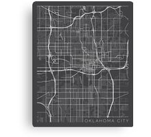 Oklahoma City Map, USA - Gray Canvas Print