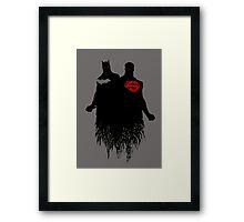 Batman/Superman Framed Print