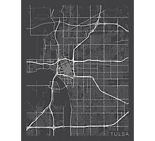 Tulsa Map, USA - Gray Photographic Print