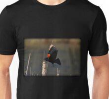 Red-Winged Blackbird Flight Unisex T-Shirt