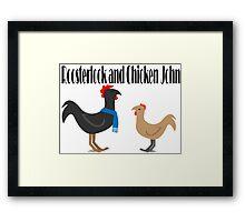 Johnlock in the Hen House Framed Print