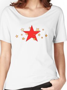 Red Star with Little Stars Women's Relaxed Fit T-Shirt