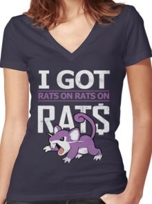 Rats on Rats on Rats Women's Fitted V-Neck T-Shirt