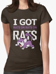 Rats on Rats on Rats Womens Fitted T-Shirt