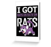 Rats on Rats on Rats Greeting Card