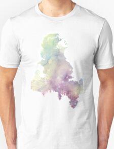 Regina Mills Purple/Green Water Color Unisex T-Shirt