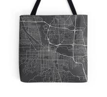 Eugene Map, USA - Gray Tote Bag