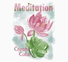 meditation create calm Kids Tee