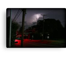 Small Town Summer Night Canvas Print