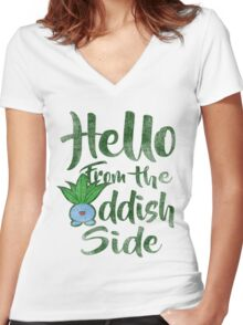 Hello 2 Women's Fitted V-Neck T-Shirt