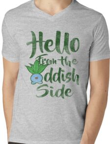 Hello 2 Mens V-Neck T-Shirt