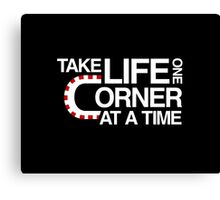 Take life one corner at a time Canvas Print