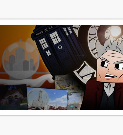 Doctor Who Online Minecraft - 12th Doctor Poster Sticker