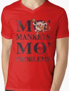 Mo Mankeys Mo Problems Mens V-Neck T-Shirt