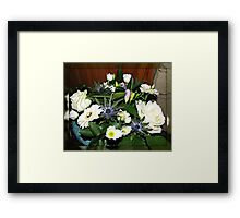 Birthday Bouquet in Mirrored Frame Framed Print